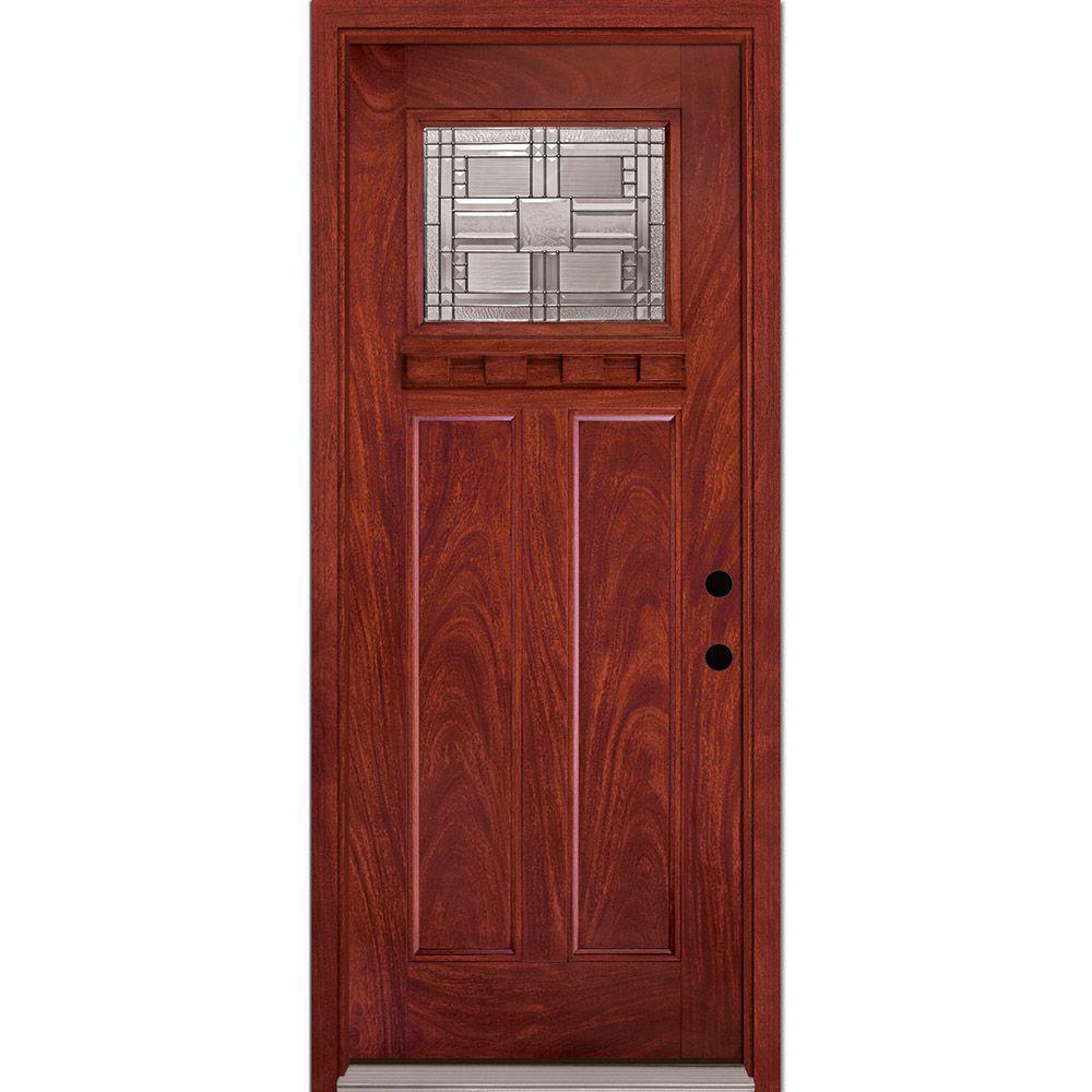 Preston Collection Customizable Fiberglass Prehung Front Door