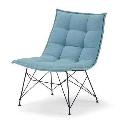 Elsie 24 in. Wide Aqua Woven Fabric Contemporary Accent Chair