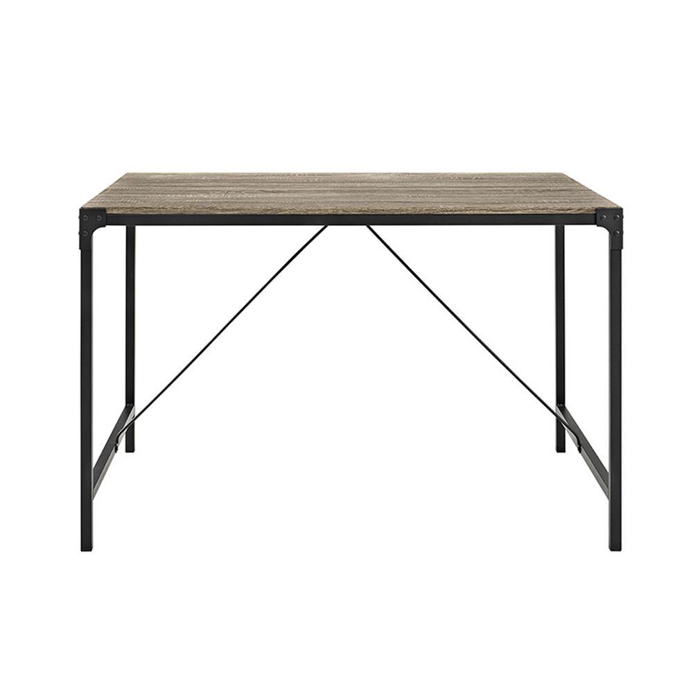 Walker Edison Furniture Company Angle Iron Driftwood Wood