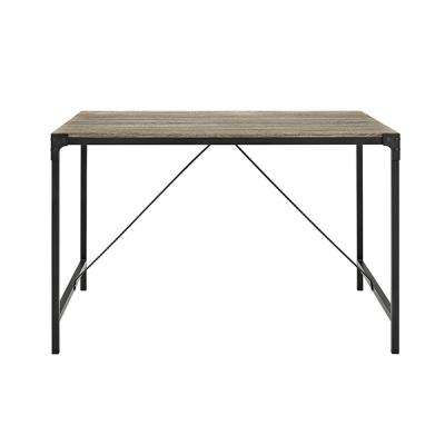 Angle Iron Driftwood Wood Dining Table