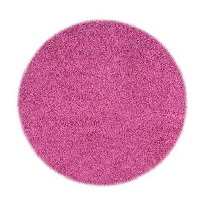 Ultimate Shag Hot Pink 8 ft. Round Area Rug