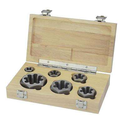 1/8 in., 1/4 in., 3/8 in., 1/2 in., 3/4 in. and 1 in. Carbon Steel NPT Pipe Die Set (6-Piece)