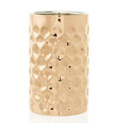 "7-3/4 in. H x 4-3/4 in. Dia ""La Mode"" Copper Double Wall Wine Chiller"