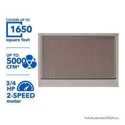 5000 CFM Down-Draft Roof 8 in. Media Evaporative Cooler for 1650 sq. ft. (Motor Not Included)