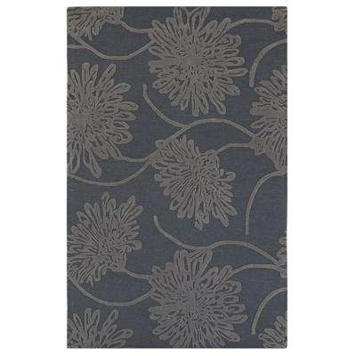 Bouquet Slate 8 ft. x 8 ft. Round Area Rug