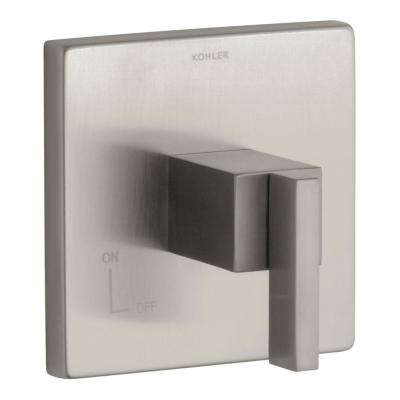 Loure 3-3/4 in. x 5-1/2 in. Volume Control Trim in Nickel (Valve Not Included)