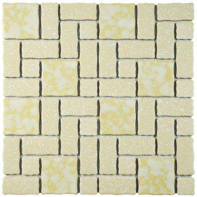 Academy Gold 12 in. x 12 in. Porcelain Mosaic Tile (9.6 sq. ft. / Case)