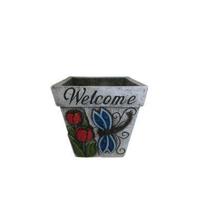 Cement and Plastic Welcome' Insect Decorative Planter - Assorted (Pack of 4)