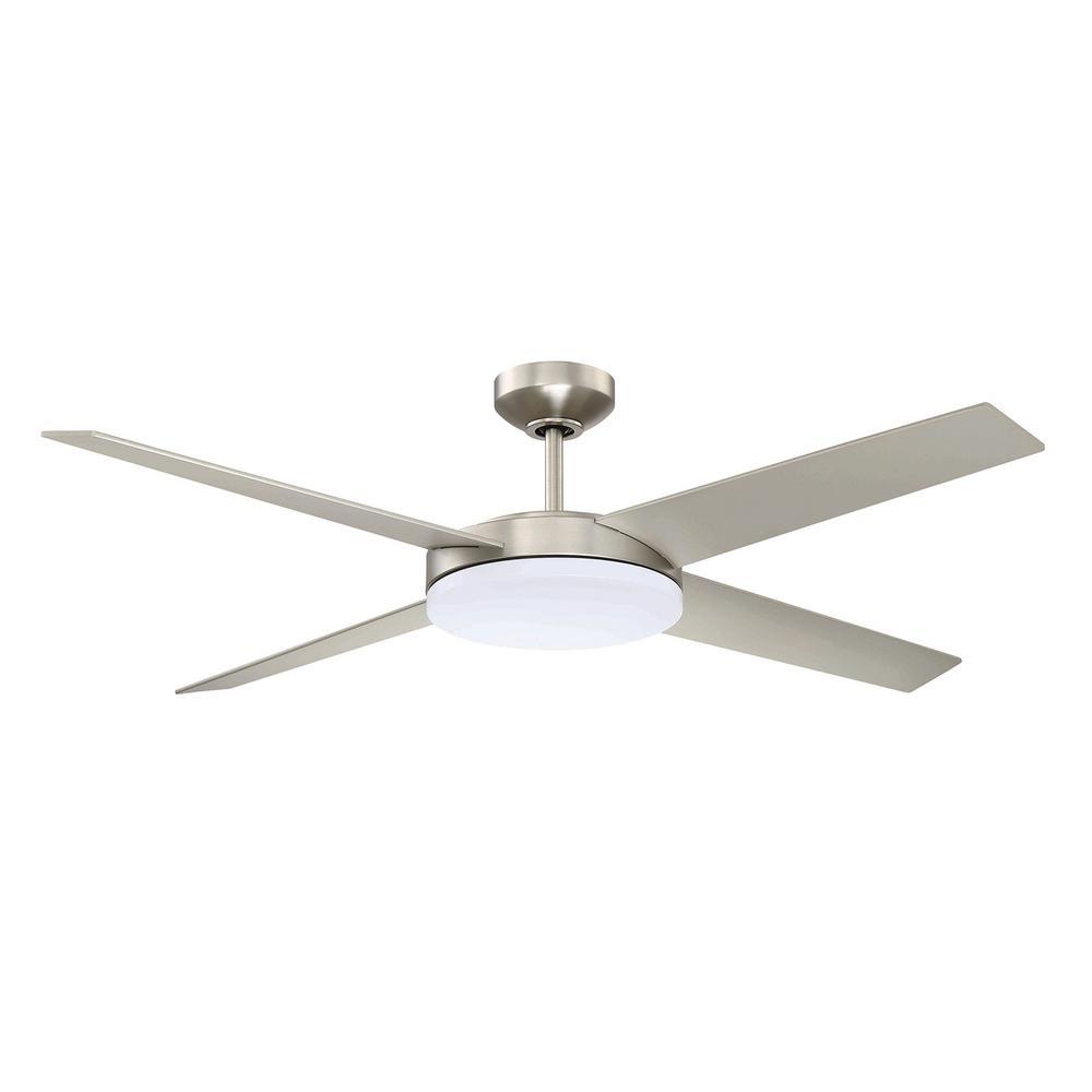 Lopro 52 in. LED Satin Nickel DC Motor Ceiling Fan