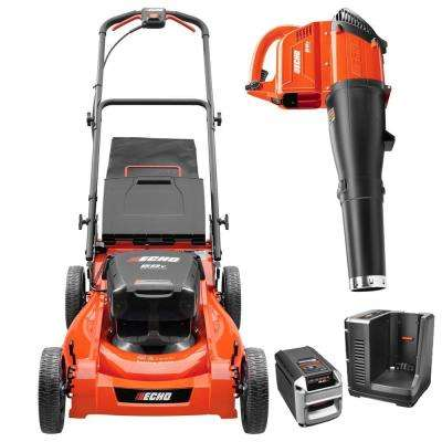 21 in. 58-Volt Lithium-Ion Cordless Lawn Mower with Blower Combo Kit - 4.0 Ah Battery and Charger Included