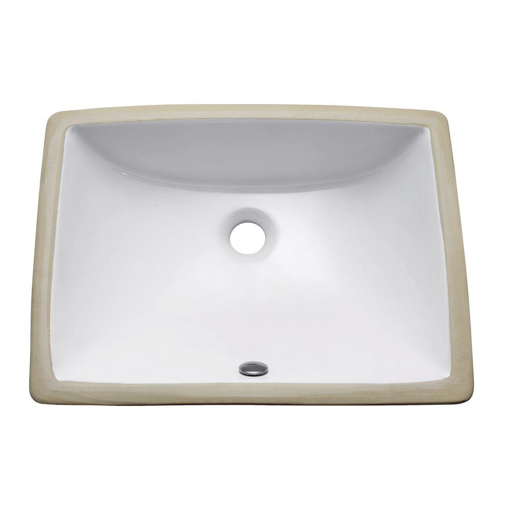 Avanity Undermount Bathroom Sink in White