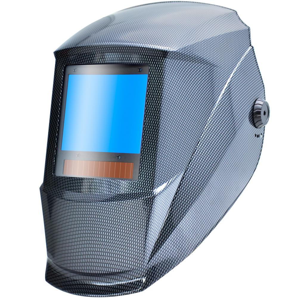 3.86 in. x 3.23 in. Auto Darkening Welding Helmet with Large