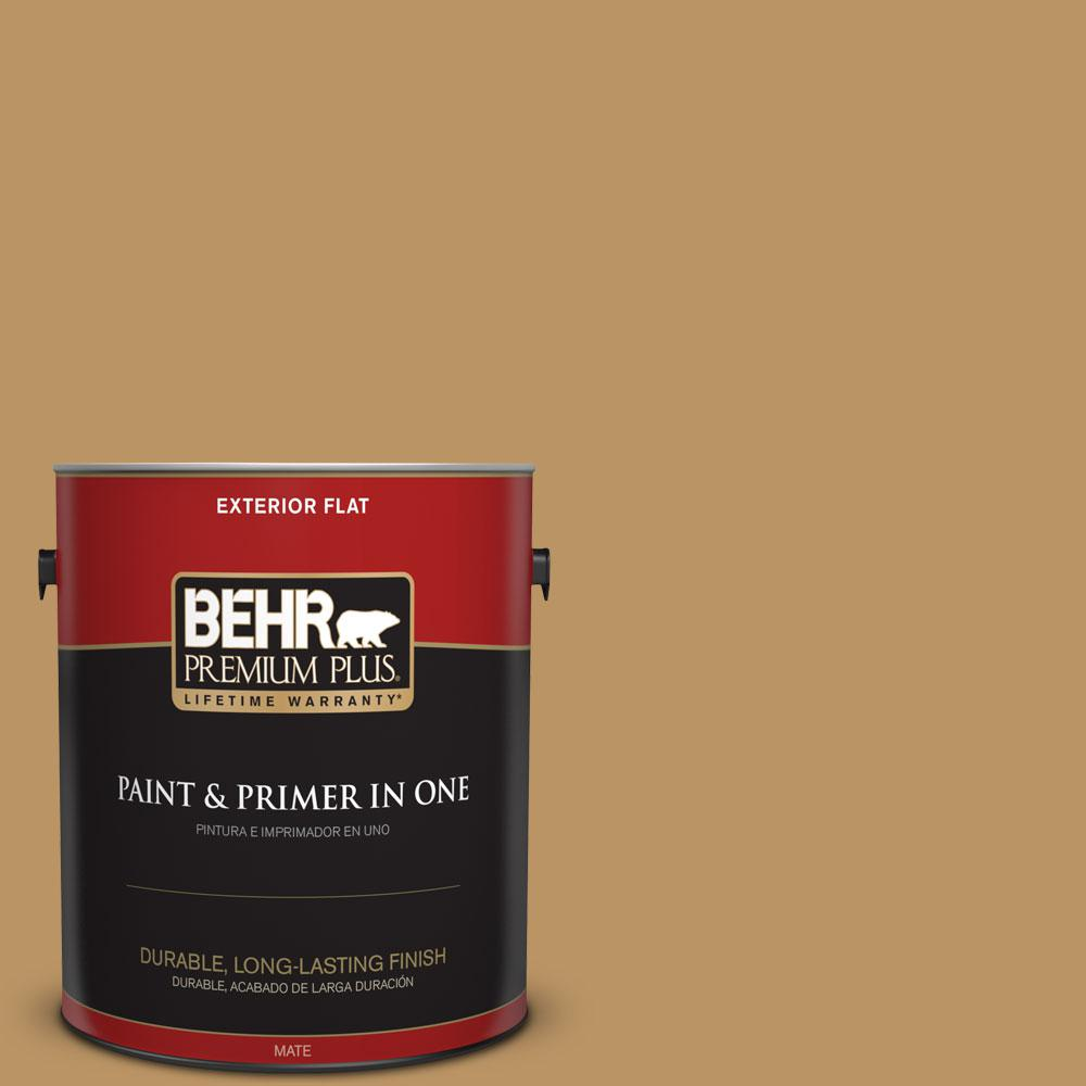 1-gal. #S300-5 Spiced Mustard Flat Exterior Paint