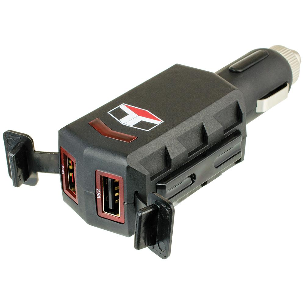 Best Rated Home Electronics Electrical The Depot Charger With Outlet Blacktr7740bkbox 12 Volt 24 Dual Usb 28 Amp And