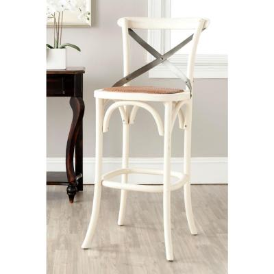 Eleanor 30.7 in. Ivory Bar Stool