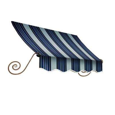4 ft. Charleston Window Awning (24 in. H x 12 in. D) in Navy/Gray/White Stripe
