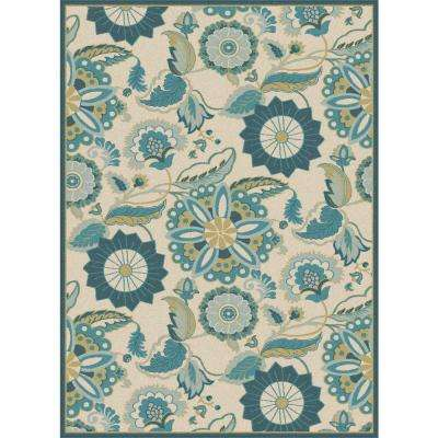 Olympia Aqua 5 ft. 2 in. x 7 ft. 3 in. Area Rug