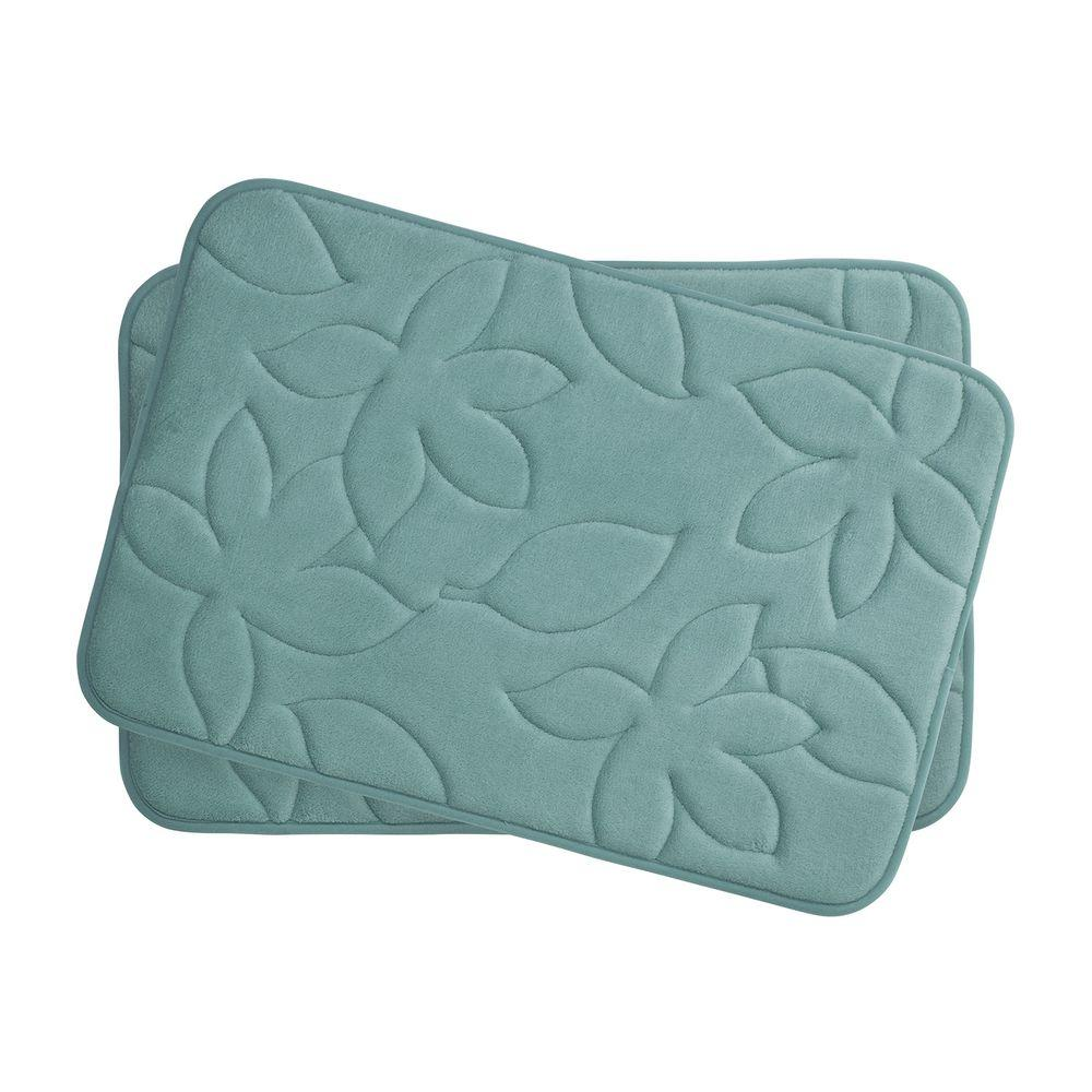 Bouncecomfort Blowing Leaves Marine Blue 17 In X 24 In