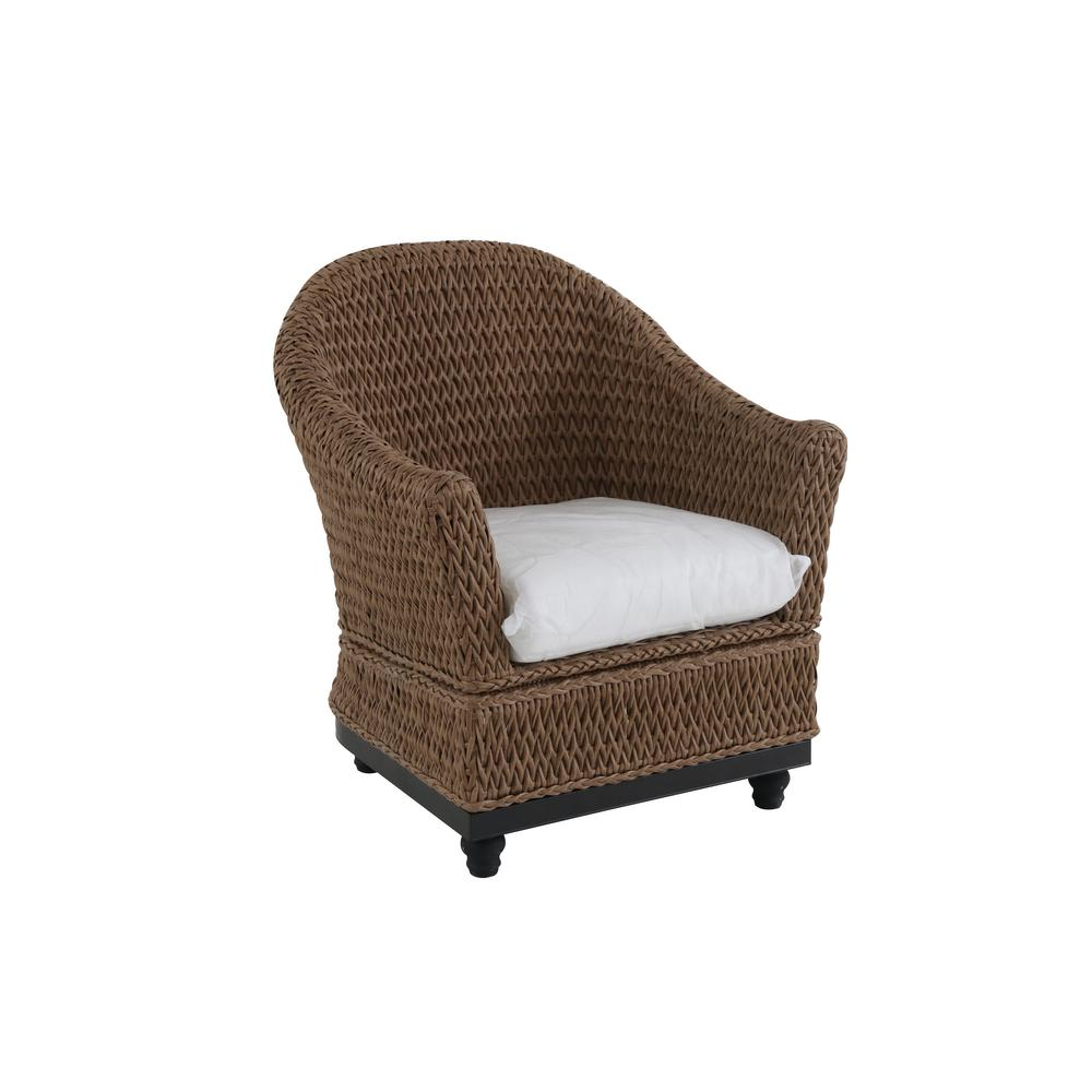 Home Decorators Collection Camden Light Brown Wicker Outdoor Porch Chat Lounge  Chair With Fretwork Mist Cushions (2 Pack) FRA60647SW 2PK   The Home Depot