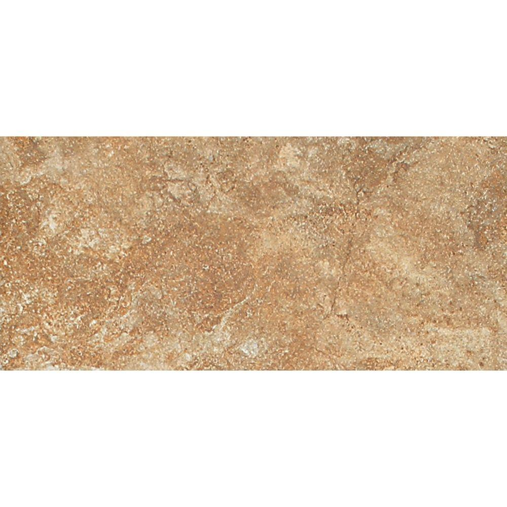 Daltile Del Monoco Adriana Rosso 3-1/4 in. x 6-1/2 in. Porcelain Floor and Wall Tile