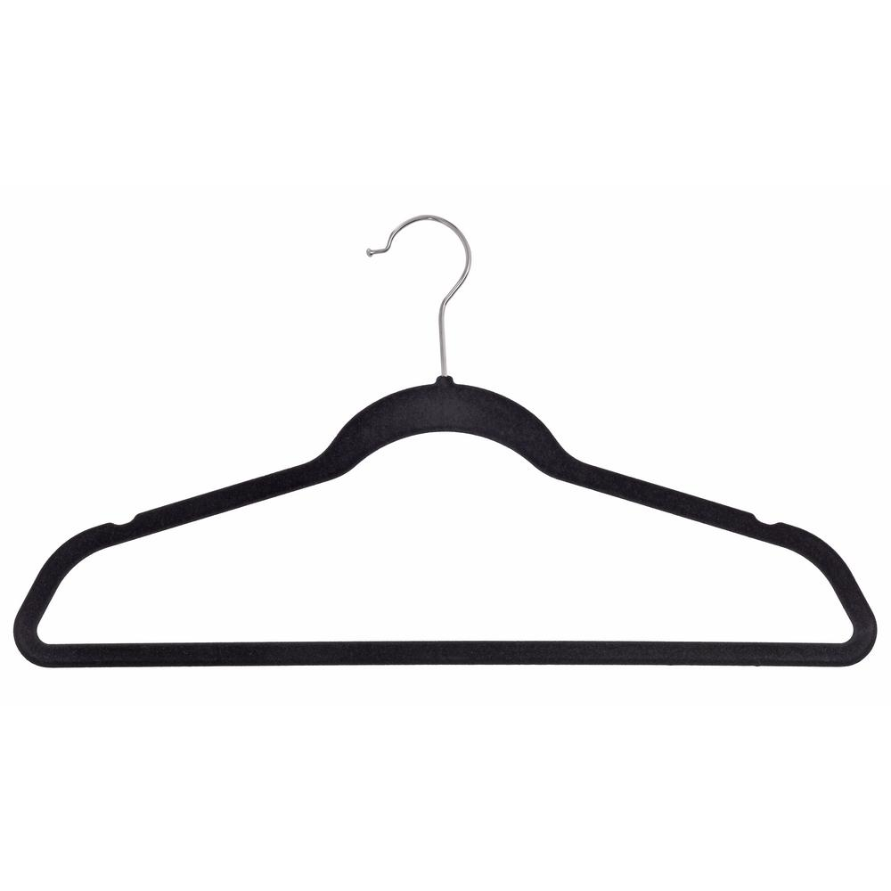 Muscle Rack Velvet Black Suit Hanger (50-Pack)
