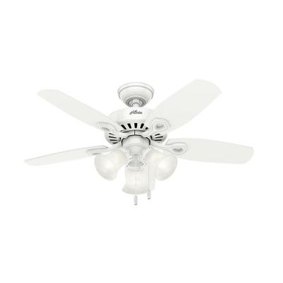 42 in. Indoor Snow White Builder Small Room Ceiling Fan with Light Kit