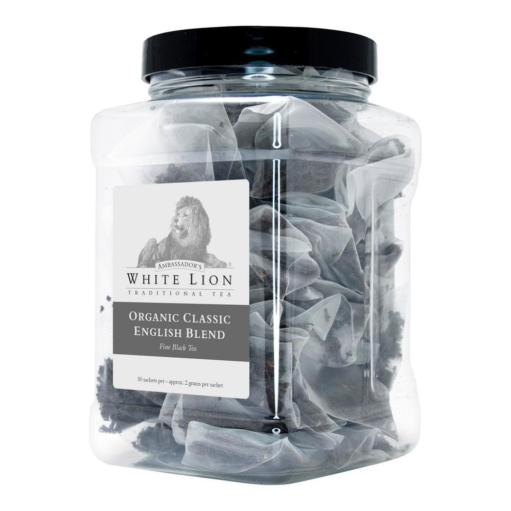 White Lion Tea Tea Organic Earl Grey 40 Wrapped Sachets Retail Tea