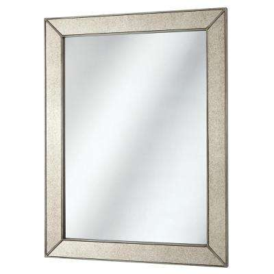 23 in. x 30 in. Framed Fog Free Wall Mirror in Silver