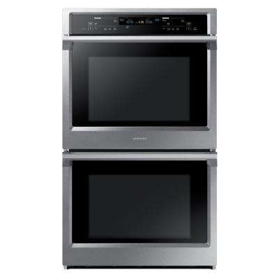 30 in. Double Electric Wall Oven Self-Cleaning with Steam Cooking and True Convection in Stainless