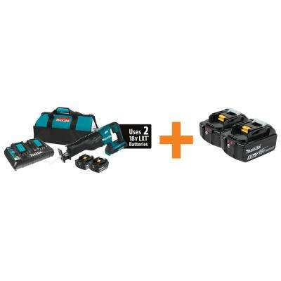 18-Volt X2 LXT Lithium-Ion (36V) Brushless Cordless Recipro Saw Kit w/(2) 5.0Ah Batteries and BONUS 5.0Ah Battery (2Pk)
