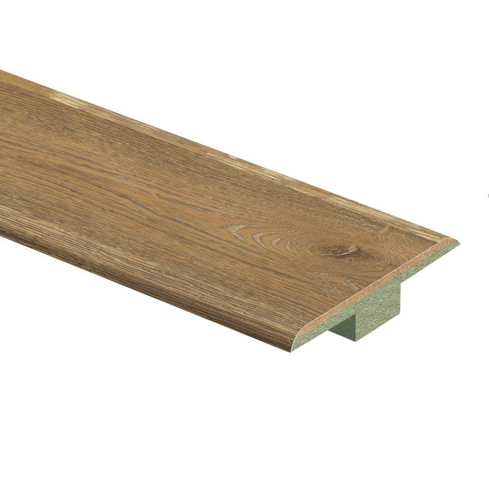 Zamma Sumpter Oak 7/16 in. Thick x 1-3/4 in. Wide x 72 in. Length Laminate T-Molding