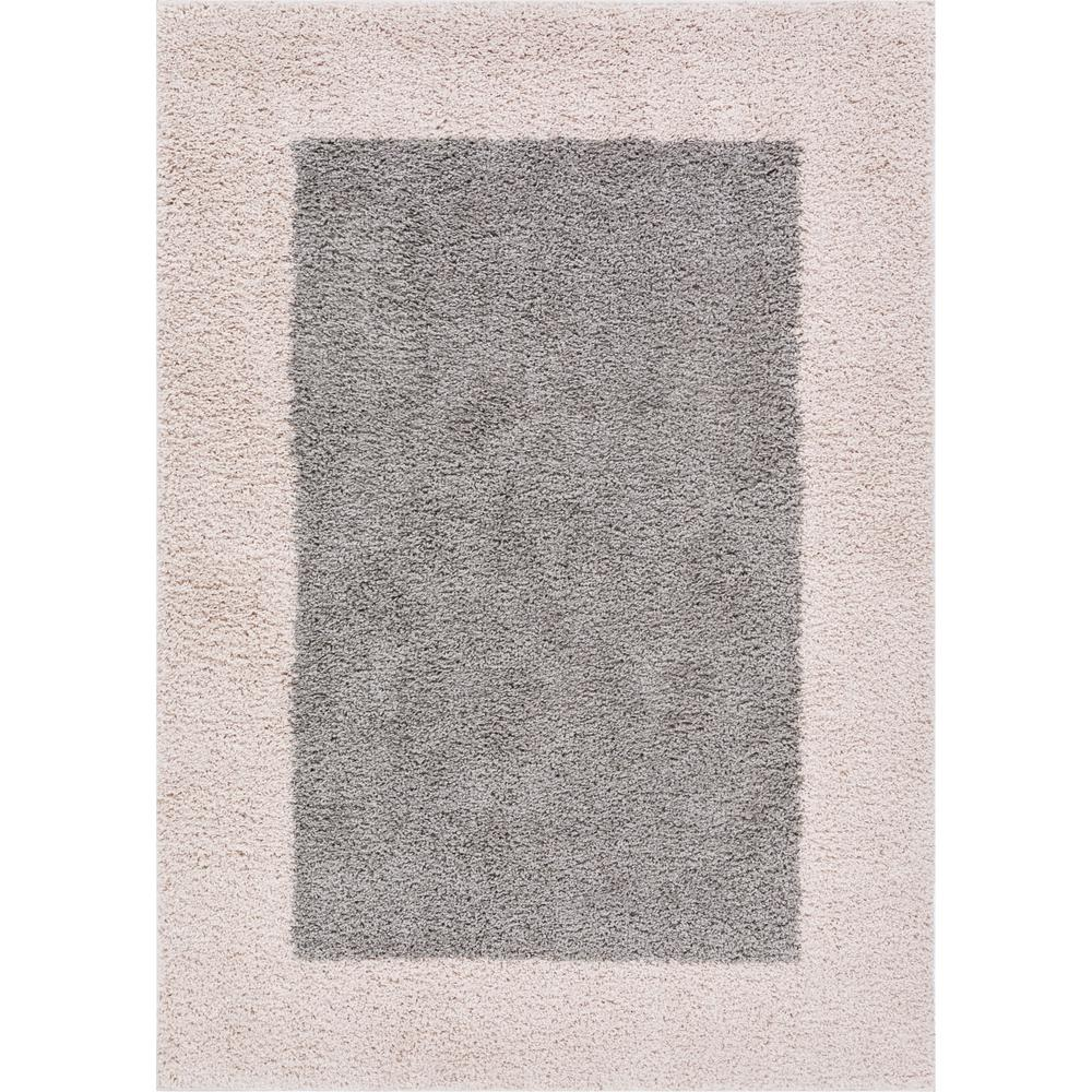 Well Woven Madison Shag Cozumel Grey 5 Ft X 7 Ft Modern Solid