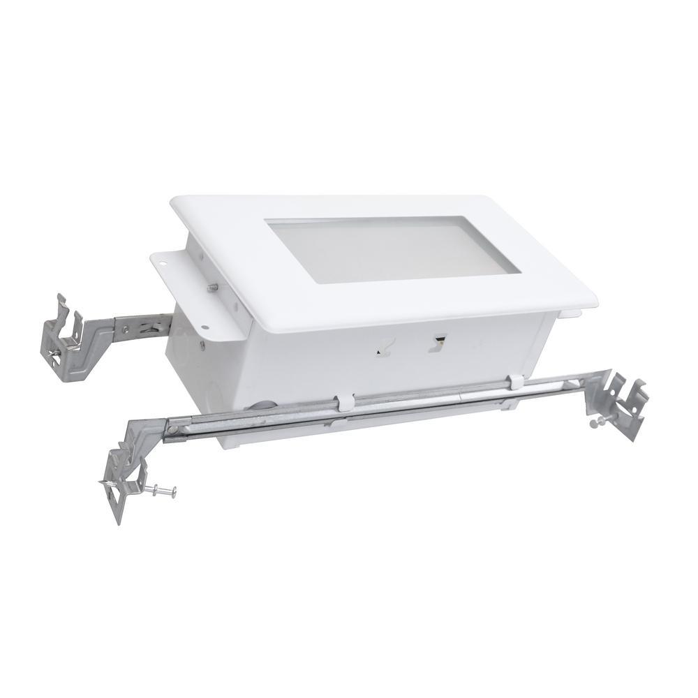 White Integrated LED Deck Step Light In 3000K