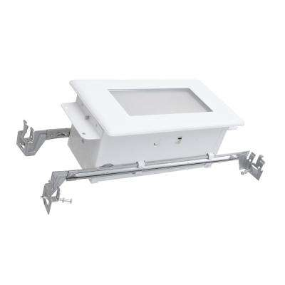 10 in. White Wet-Location Rated Integrated LED Deck Step Light in 3000K
