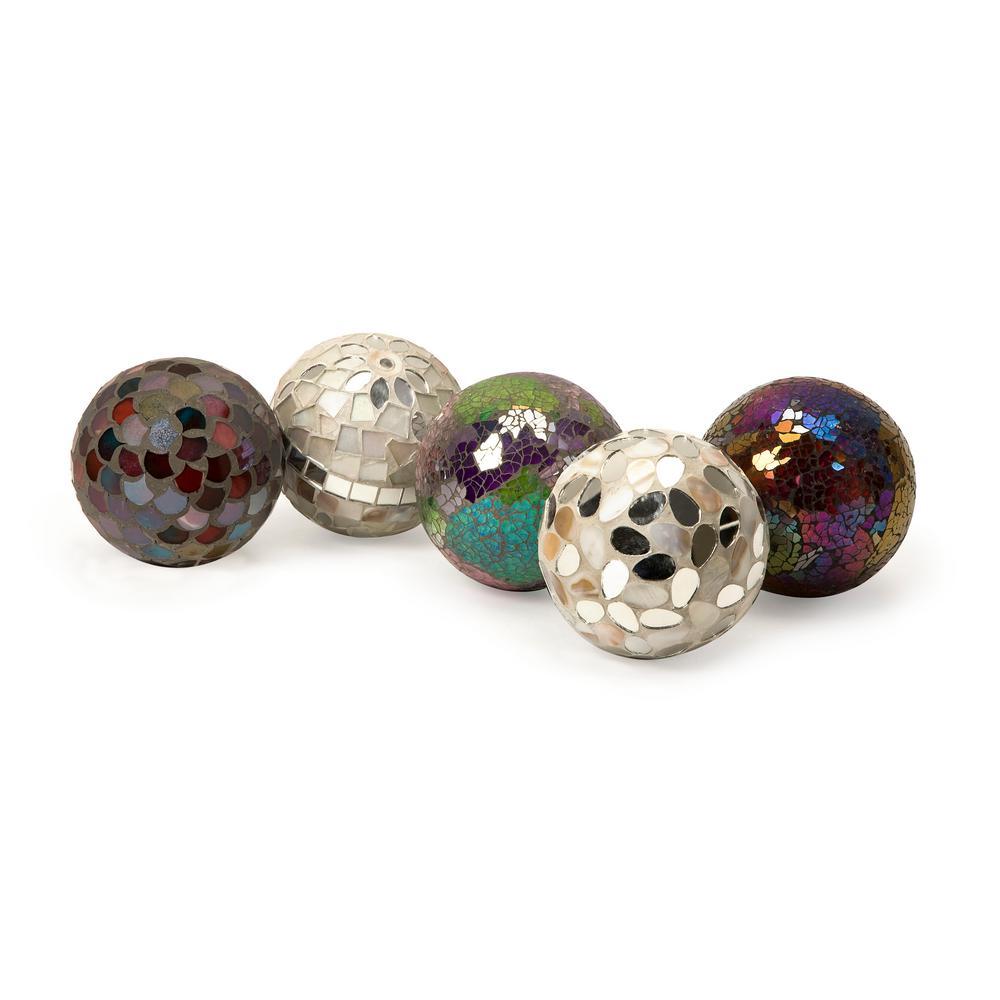 Abbot Silver Glass Balls (5-Pack)