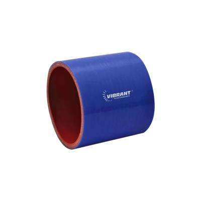 4 Ply Reinforced Silicone Straight Hose Coupling - 1.5in I.D. x 3in long (Blue)