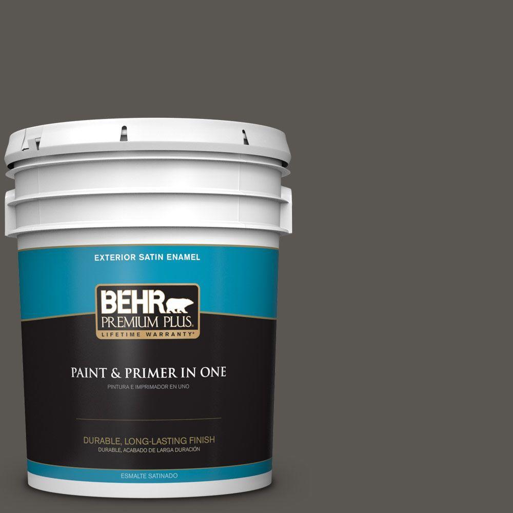 5-gal. #BXC-17 Dominant Gray Satin Enamel Exterior Paint