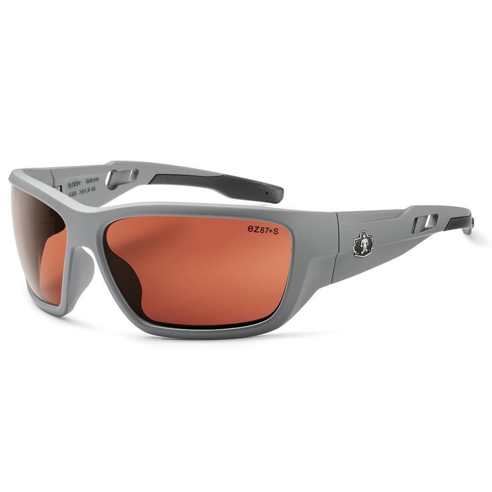 7d9e965017 Ergodyne Skullerz Baldr Matte Gray Polarized Safety Glasses