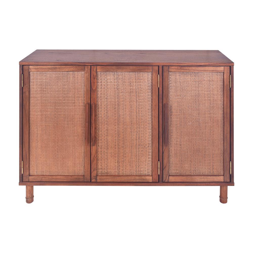 Delancey 51 in. Pecan 3 Door Cabinet