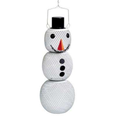 Solar Powered Snowman Wild Bird Feeder