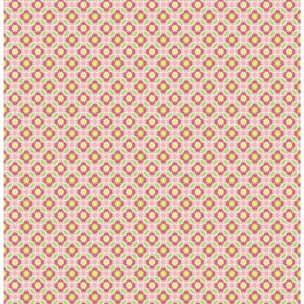 A-Street Audra Pink Floral Wallpaper Sample 2657-22245SAM