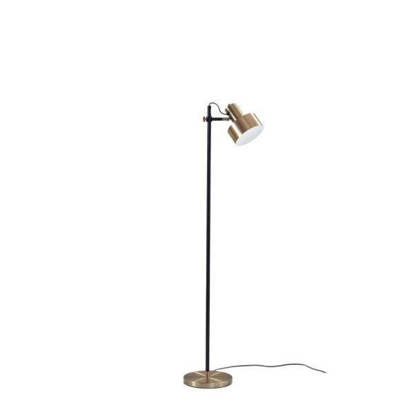 56.5 in. Black Floor Lamp with Shade