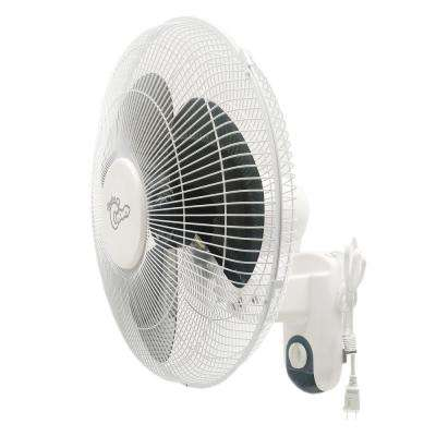 16 in. 3-Speed Oscillating Wall-Mount Fan