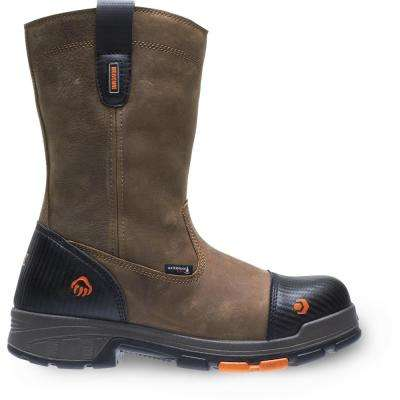 """Men's Blade LX Size 12M Brown Full-Grain Leather Waterproof Composite Toe 10"""" Boot"""
