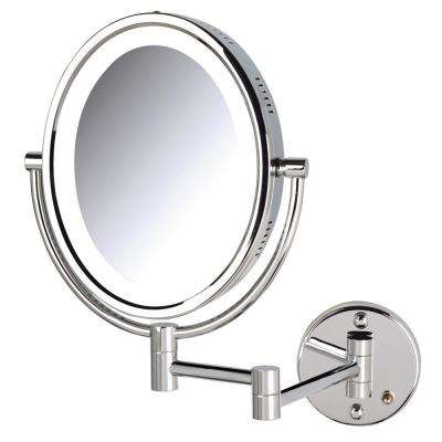 11 in. x 16 in. Bi-View Lighted Wall Makeup Mirror