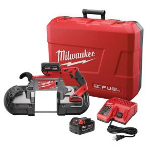 Milwaukee M18 FUEL 18-Volt Lithium-Ion Brushless Cordless Deep Cut Band Saw W/(2) 5.0Ah Batteries, Charger, Hard Case by Milwaukee
