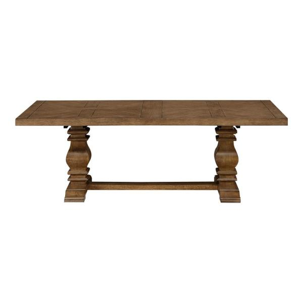 Eldridge - Trestle Dining Table with Self Storing Extension in Haze