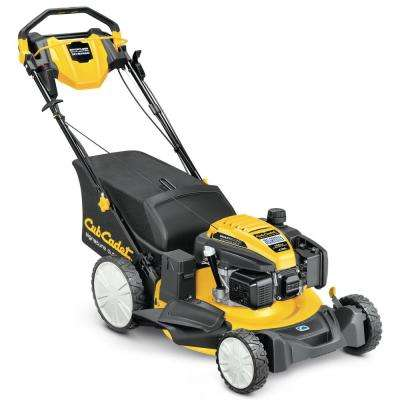 21 in. 159 cc Quiet Engine Gas Push Button Electric Start 3-in-1 High Rear Wheel RWD Walk Behind Lawn Mower