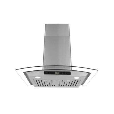 30 in. Ducted Wall Mount Range Hood in Stainless Steel with Touch Controls, LED Lighting and Permanent Filters