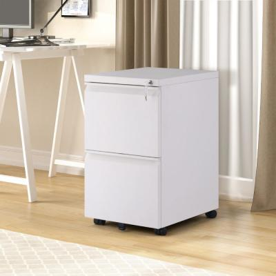 White Stable File Cabinet Fully Assembled Except Wheels